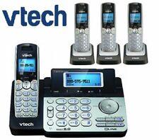 Vtech DS6151 DECT 6.0 2-Line Cordless Phone w/ 3 DS6101 Telephone Bundle Set New