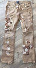 Ralph Lauren Vintage Patched Destroyed Denim Jeans Woman's Sz 29 RARE