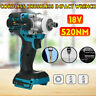 "18V 1/2"" 520Nm Brushless Replace Impact Wrench Body For Makita Battery DTW285Z"
