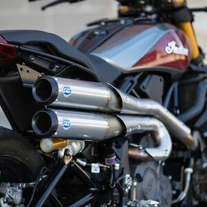 S&S Cycle 550-0950A Grand National 2-2 High Exhaust System for Indian FTR 1200