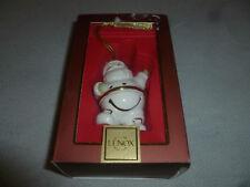 Boxed Lenox Santa Claus Jingle Bell Christmas Ornament W Box Gold Accents Xmas