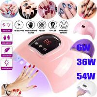 54W Pro Nail Polish Dryer Lamp LED UV Gel Acrylic Curing Light Manicure Timer