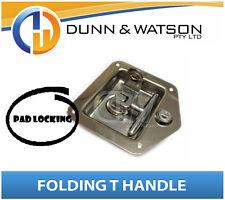 Pad Locking Folding T Lock / Handle Cut Out (Camper Trailer Canopy) Drop T