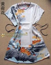 Wholesale Colors Lady Woman Chinese Sleepwear Robe Nightwear Dress -6