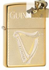 Zippo 29651 Guinness Beer Brass Lighter with PIPE INSERT PL