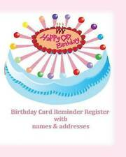 NEW Birthday Card Reminder Register  with names & addresses (Special Occasion)