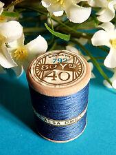 750B/ SPLENDIDE BOBINE DE FIL ALSA POUR BRODERIE N° 40 BLEU COBALT N° 792