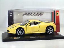"""Bburago 46100 Ferrari 458 Italia """"Gialla""""- Scala 1:32 Race & Play ++ NOVITA'"""