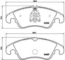Conjunto de guarnición, freno de disco para dispositivo de frenado eje delantero Brembo p 85 098