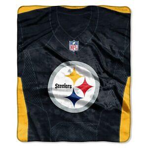 Pittsburgh Steelers Blanket 50x60 Raschel Jersey Design