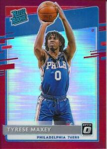 TYRESE MAXEY 2020-21 PANINI DONRUSS OPTIC ROOKIE RED PRIZM RC #ED 10/99 SSP