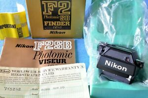 c1977 vtg, MINT IN BOX w/PAPERS Nikon DP3 Photomic Finder f/ F2SB -Chrome or BLK