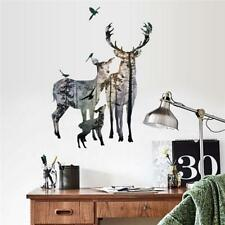 Removable Deer Forest Wall Stickers Decals Art Mural Vinyl Home Room Decor DIY J