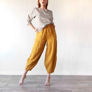 LINEN HAREM PANTS linen trousers , linen pant for woman plus size 100% flax