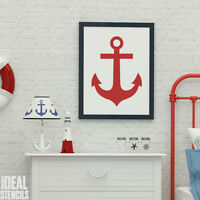 Ships Anchor Stencil Nautical Seaside Home Wall Décor Craft Painting Stencils