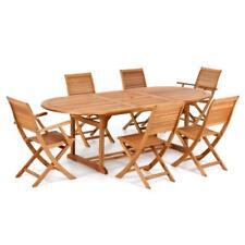Tavolo da esterno il legno di eucalipto allungabile 180/240 arredo giardino