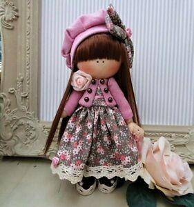 Rag doll handmade in the UK Tilda doll Ooak doll Art doll LAYLA 8 inch tall