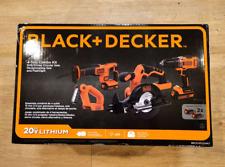 Black & Decker BDCDHP2204KT 20V MAX Lithium-Ion 4-Tool Combo Kit, 2 Batteries