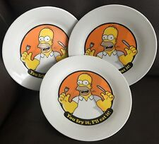 "3 Signed Collectable Official 20th Century Fox Films 7"" (18cm) Simpsons Plates"
