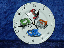 Power tools wall clock porcelain wall clock with different colourful power tools