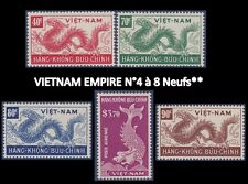 VIETNAM EMPIRE PA N°4/8** Dragons,1952 South Vietnam C5-C9 Airmail Set MNH