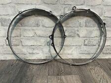 """More details for tama star-cast 13"""" drum hoop rim 6 lug hardware tension #ho523"""
