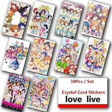 Love Live 10Pcs set Japanese Anime Poster Photo Crystal Card Stickers