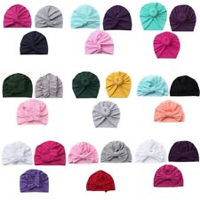 Unisex Newborn Boys Girls Cotton Turban Hat Toddlers Headwear Knotted Cap Beanie