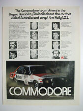 PETER BROCK 05 REPCO TRIAL VB COMMODORE MAGAZINE FULLPAGE COLOUR ADVERTISEMENT
