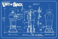 Lost In Space Robot Blueprint Art Print Mural Poster 36x54 inch