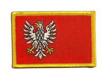 Polen Woiwodschaft Masowien Aufnäher Flaggen Fahnen Patch Aufbügler 8x6cm
