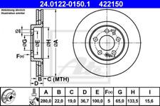 2 x Ate Bremsscheibe VA für VW/AUDI/SKODA GOLF,A3,OCTAVIA - 24.0122-0150.1