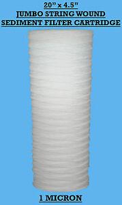 """20"""" x 4.5"""" Jumbo Wound Sediment Filter Cartridge 1Mic  Well Water ,WVO 1 Micron"""