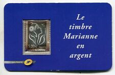 TIMBRE FRANCE 5 EUROS  ARGENT 999  MARIANNE NEUF