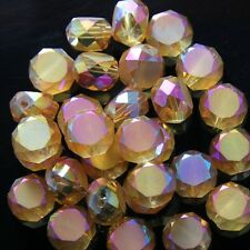 10pcs 10mm Swaro/vski  Flat drum Crystal beads C Gold-rose