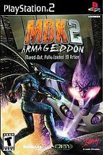 MDK 2: Armageddon (Sony PlayStation 2, 2001) - Black Label - Complete