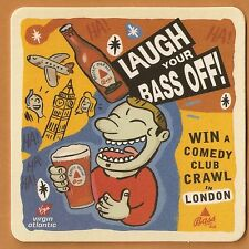 16 Bass Ale Laugh Your Bass Off!   Beer Coasters