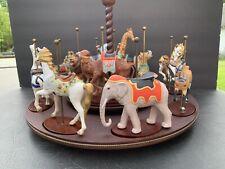 Franklin Mint Carousel-Treasury Of Carousel Art 12 Figurines With Wood Display