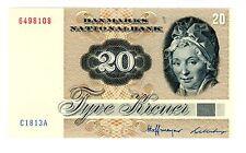 Denmark ... P-49c ... 20 Kroner ... (19)81 ... *AU-UNC* ... C1-A