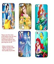 Disney princess Inspired phone case Ariel Belle Cinderella Snow white iphone HTC