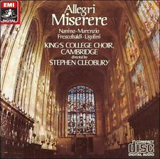 Allegri: Miserere (CD, Nov-1984, EMI Music Distribution)