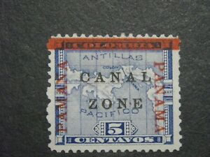 CANAL ZONE 12 MINT VF NH ALMOST NO GUM PAMANA  READING UP ON LEFT SIDE