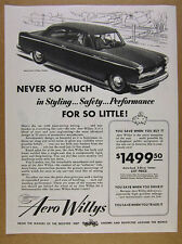 1953 Willys Aero-Lark 2-door Sedan car illustration art vintage print Ad
