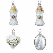 Wedding Day Ladies Gift Box Glass Ornament Set Made in Germany Gay Marriage
