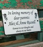 Personalised Engraved Bench  Plate Memorial Grave Marker Plaque NON FADE/RUST