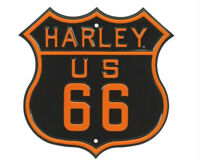 Harley-Davidson® Orange & Black US Route 66 Embossed Tin Sign 2010261