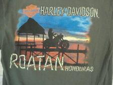 Harley-Davidson Motorcycles Roatan Honduras Forest Green T Shirt M