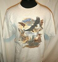 Spokane Washington Shirt   Size  XL   Wolves, Hawks,  Moose     Short Sleeve