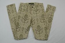 Joe's Stretch Skinny Beige With Paisley Print Womens Casual Jeans size Waist 25