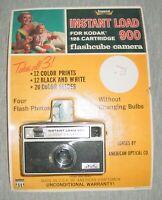 Imperial Instant Load 900 Flash Cube Camera for Kodak 126 Cartridge NEW